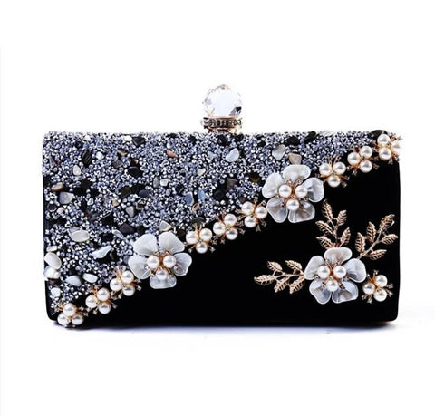 "The ""Francesca"" Beaded Handbag Clutch Purse"