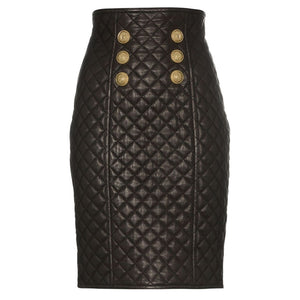 "The ""Cynthia"" Faux Leather Skirt"