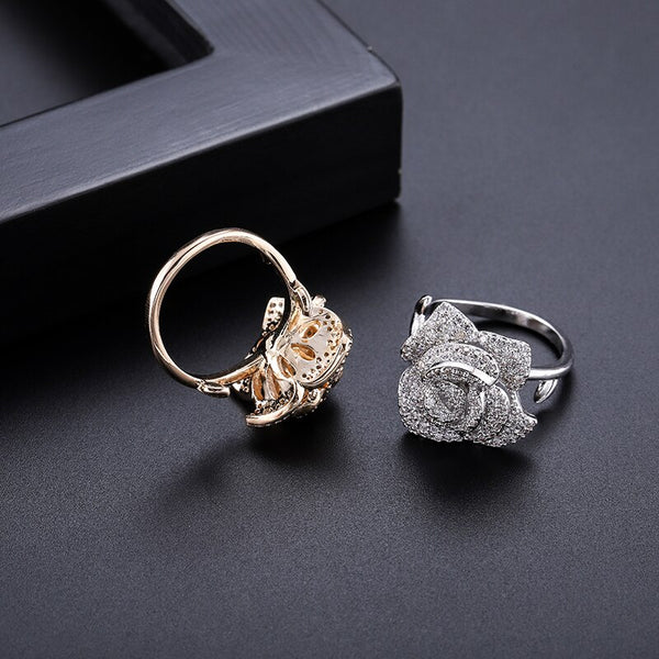 "The ""Rosa"" Crystal Ring - Multiple Colors"