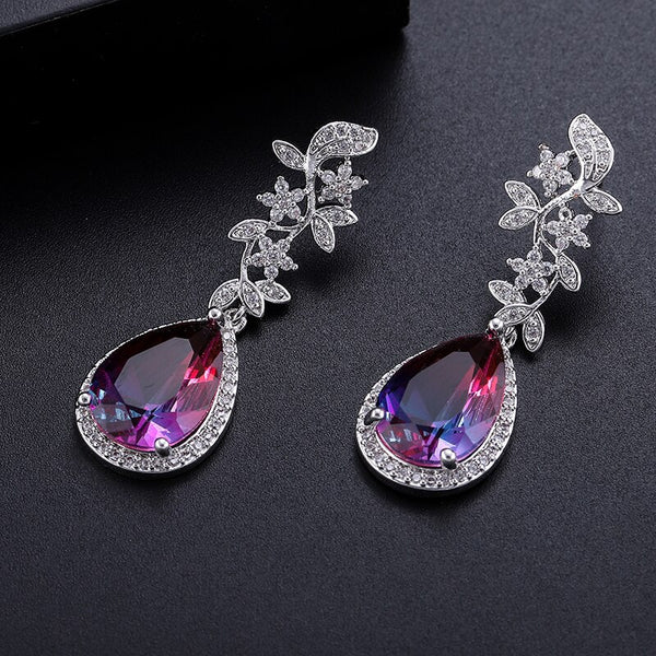 "The ""Aurora"" Crystal Drop Earrings"