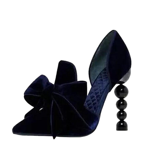 "The ""Nadine"" Velvet High Heel Pumps"
