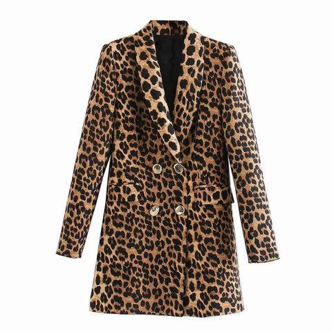 "The ""Leopard"" Long Tail Blazer"