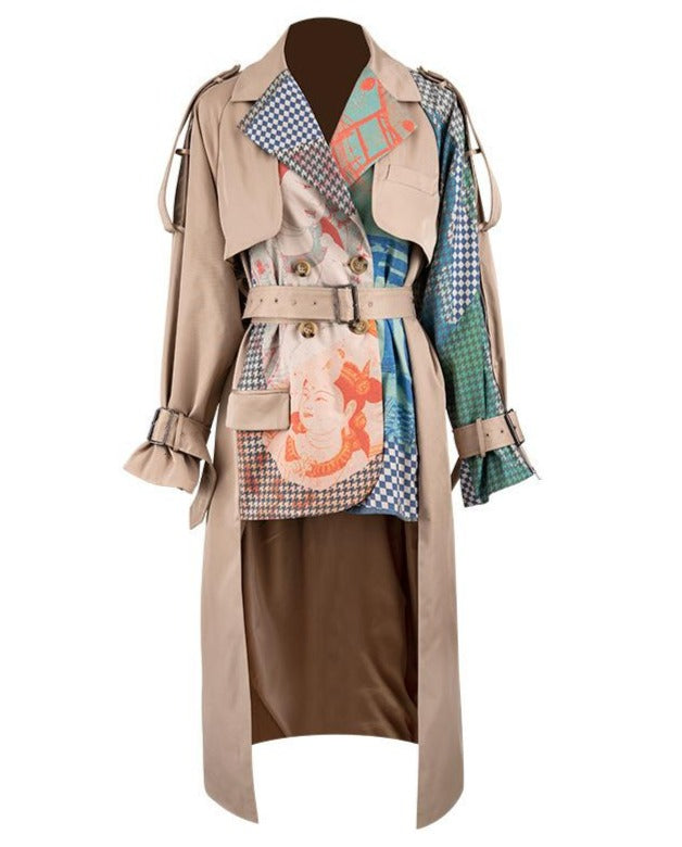 "The ""Dynasty"" Splice Trench Coat"