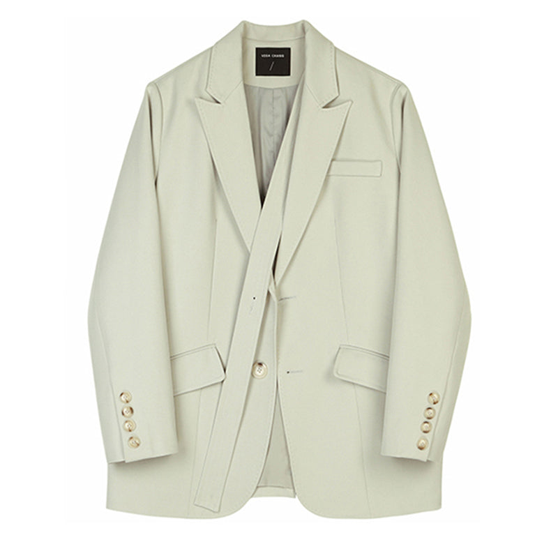 "The ""Sylvia"" Strapped Blazer - Sand"