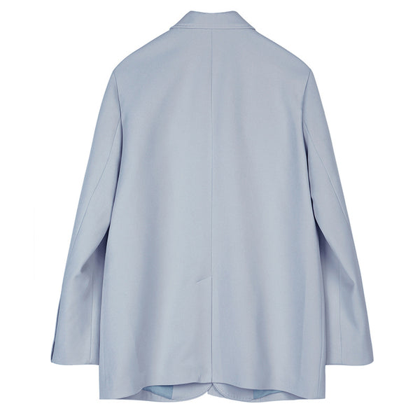 "The ""Sylvia"" Strapped Blazer - Powder Blue"