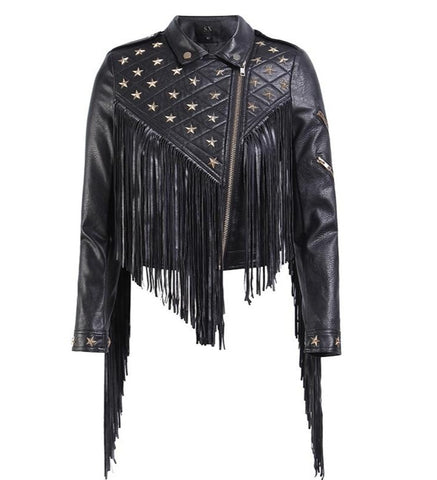 "The ""Apache"" Faux Leather Moto Jacket"