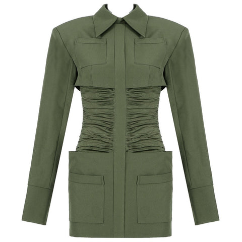 "The ""Forest"" Slim Fit Long Sleeve Mini Dress"