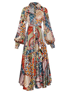 "The ""Mosaic"" Long Sleeve Dress"