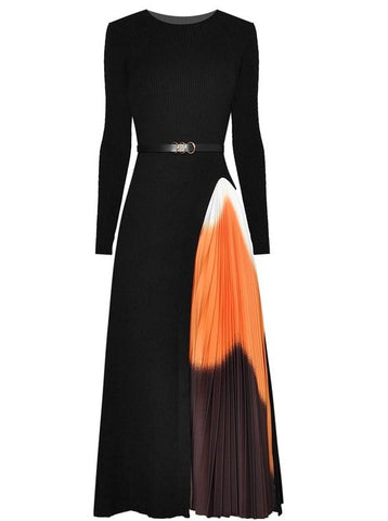 "The ""Ava"" Long Sleeve Pleated Dress"
