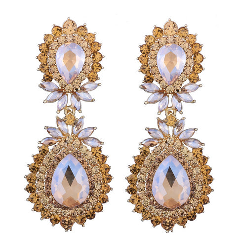 "The ""Chandelier"" Drop Crystal Earrings - Multiple Colors"