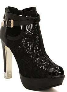 "The ""Celeste"" Lace High Heel Pumps - Multiple Colors"