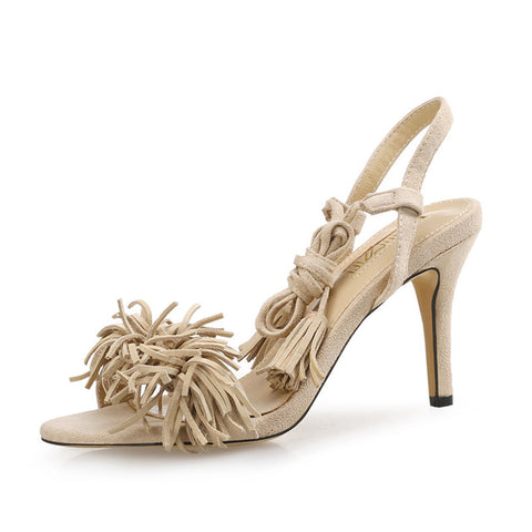 "The ""Fleur"" Tassel High Heel Sandals  - Multiple Colors"
