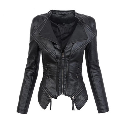 "The ""Clara"" Faux Leather Moto Jacket"