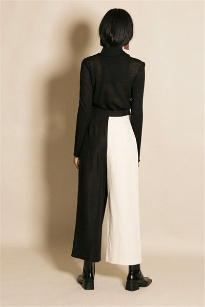 "The ""Mia"" High Waist Splice Trousers"