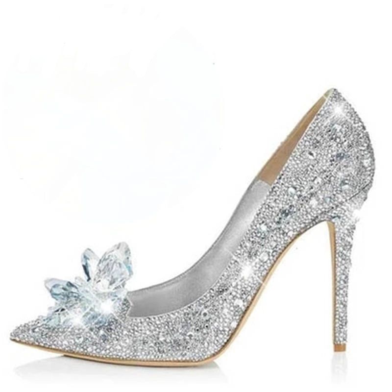 "The ""Cinderella"" Rhinestone High Heel Pumps"