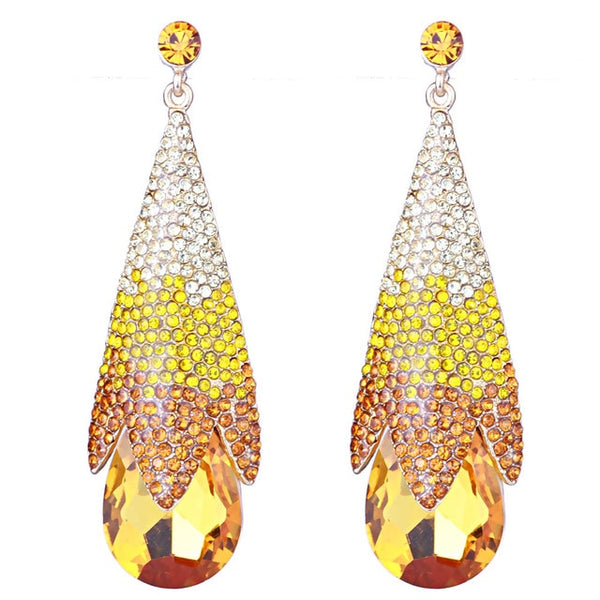"The ""Haley"" Crystal Drop Earrings - Multiple Colors"