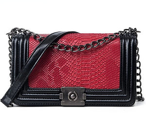 "The ""Sarai"" Snakeskin Shoulder Bag Purse - Multiple Colors"