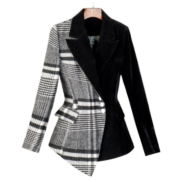 "The ""Charlotte"" Velvet Splice Blazer"