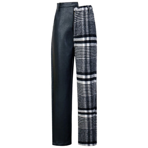 "The ""Charlotte"" Faux Leather Splice Trousers"