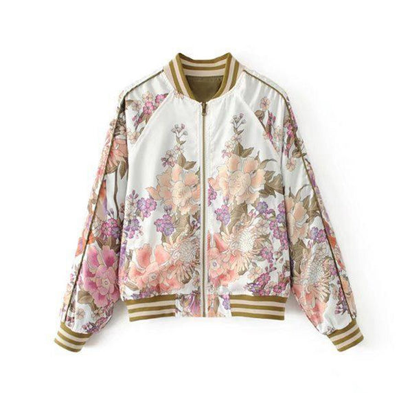 "The ""Marianna"" Floral Bomber Jacket - Multiple Colors"