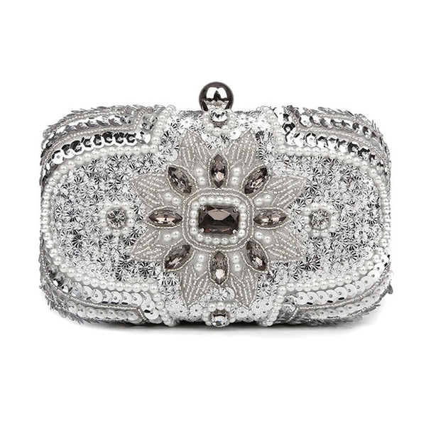 "The ""Isabella"" Beaded Handbag Clutch - Multiple Colors"