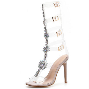"The ""Verona"" Transparent Knee-High Pumps"