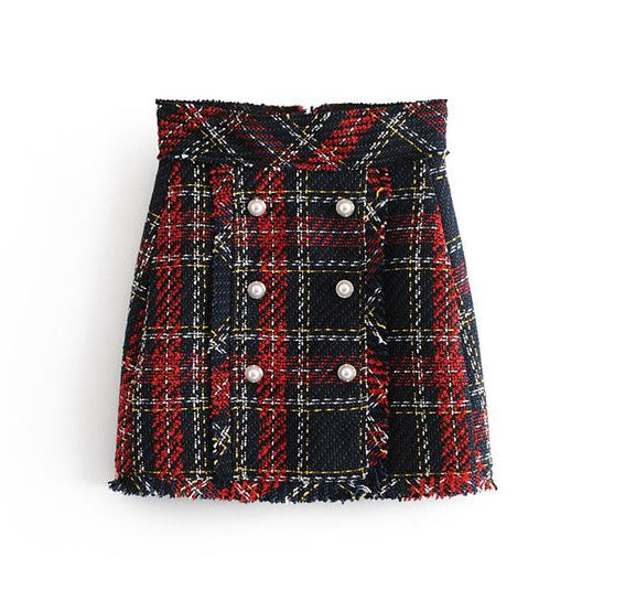 "The ""Dublin"" Tweed Mini Skirt"