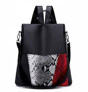 "The ""Paris"" Snakeskin Shoulder Bag Backpack - Multiple Colors"