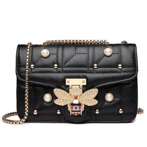 "The ""Busy Bee"" Studded Handbag Clutch Purse - Multiple Colors"