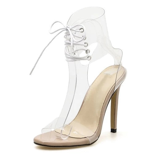 "The ""Alexandra"" Transparent High Heel Pumps - Multiple Colors"