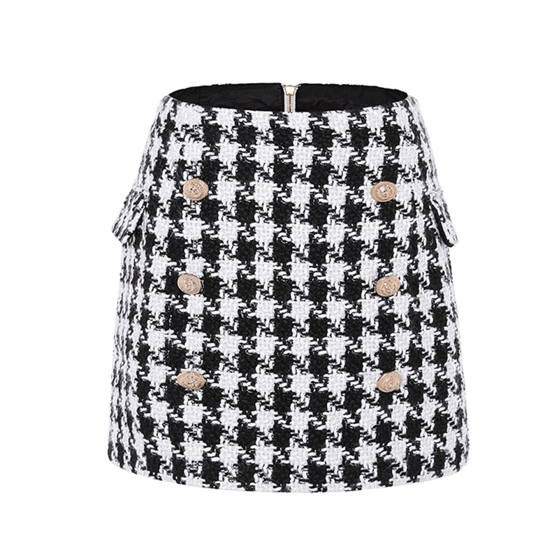 "The ""Houndstooth"" Tweed Mini Skirt"