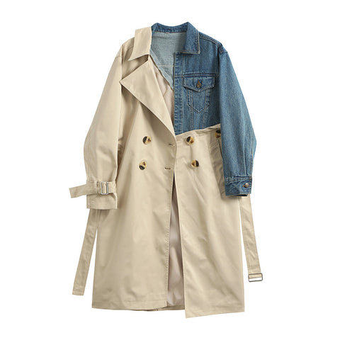 "The ""Brooklyn"" Splice Denim Trench Coat"