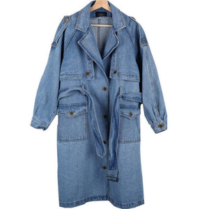 "The ""Alexa"" Denim Trench Coat"