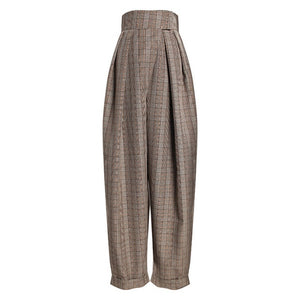 "The ""Sonya"" Pleated High Waisted Pants Trousers - Khaki"