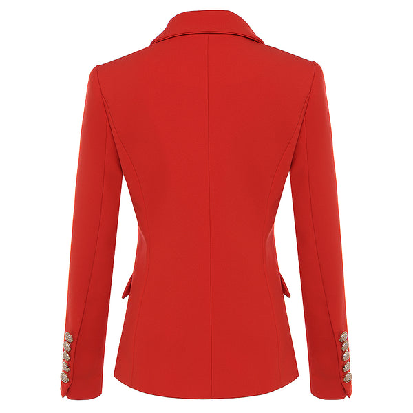 "The ""Priscilla"" Slim Fit Blazer - Cherry Red"