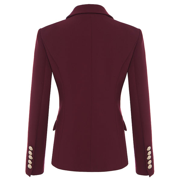 "The ""Priscilla"" Slim Fit Blazer - Cabernet"