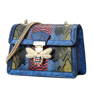 "The ""Bumblebee"" Snakeskin Handbag Purse - Multiple Colors"