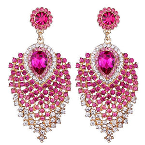 "The ""Anastasia"" Crystal Drop Earrings - Multiple Colors"