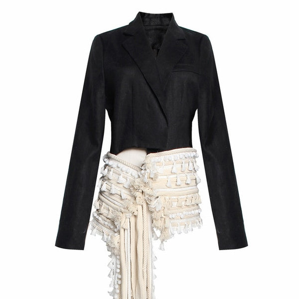 "The ""Antoinette"" Ruffled Splice Blazer"