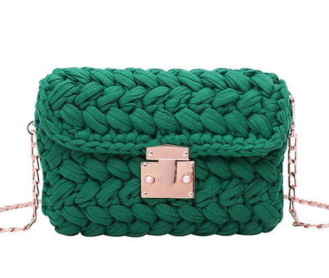 "The ""Mathilde"" Woven Handbag Purse - Multiple Colors"