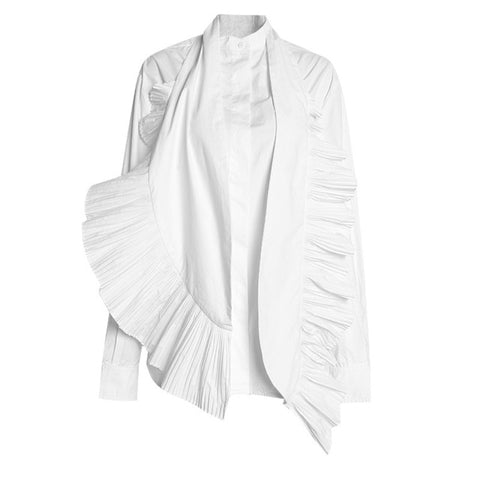 "The ""Gabriela"" Long Sleeve Blouse - White"
