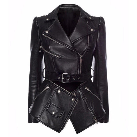 "The ""Milan"" Faux Leather Moto Jacket"