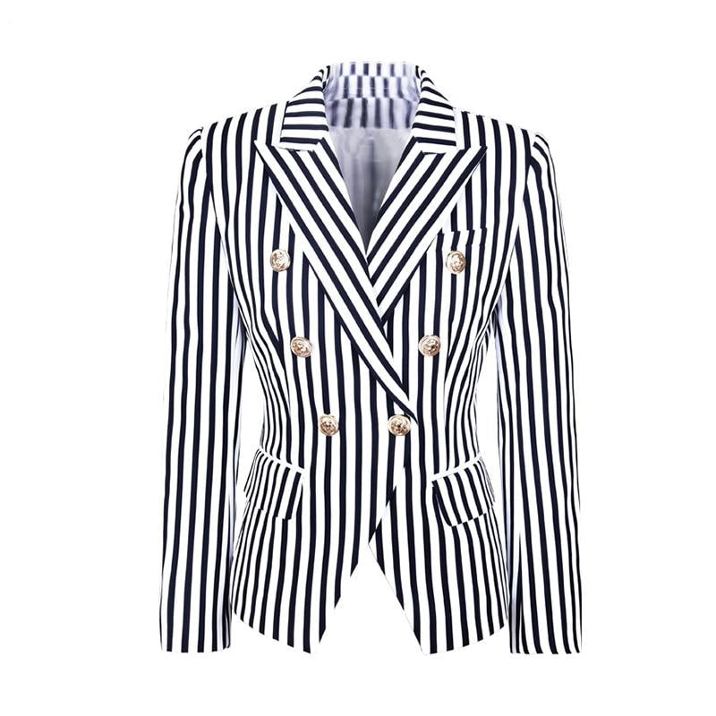 "The ""Celine"" Striped Slim Fit Blazer"