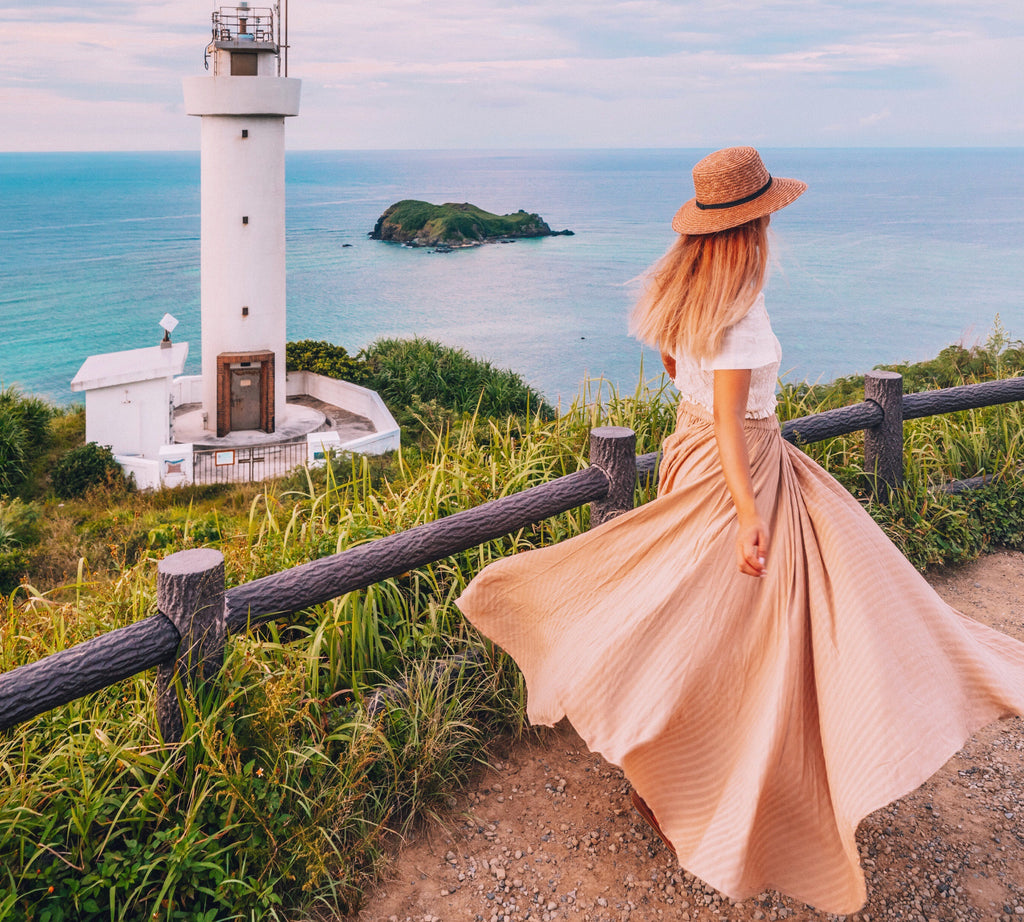 Bird and Kite Skirt ALELA in Blush in Byron Bay