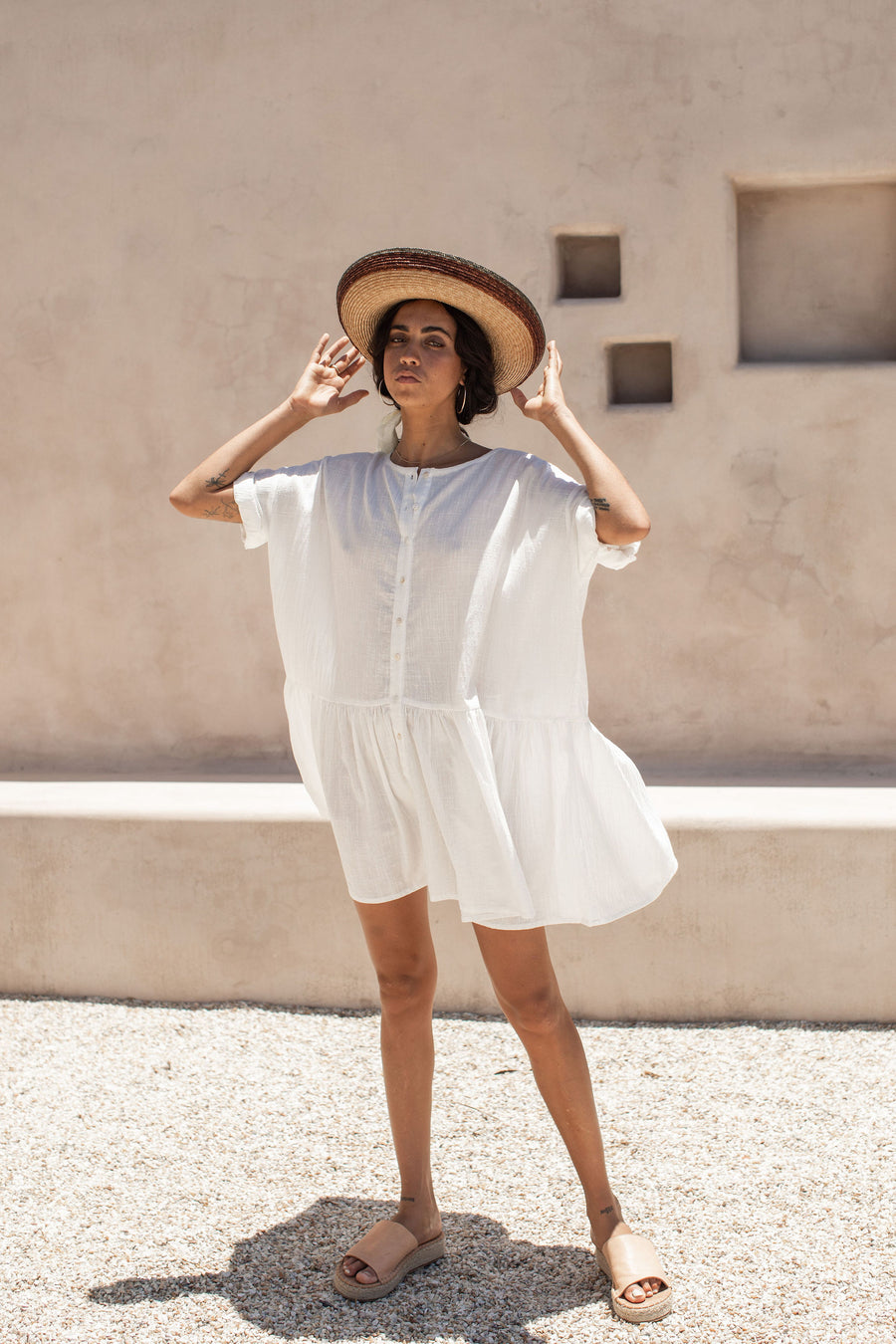 Innika Dress - Coconut White