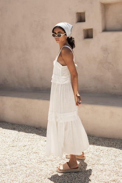 Renata Dress - Coconut White