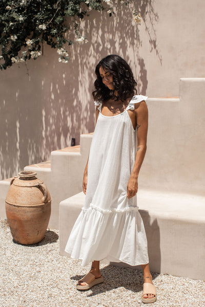 Lucy Dress - Coconut White