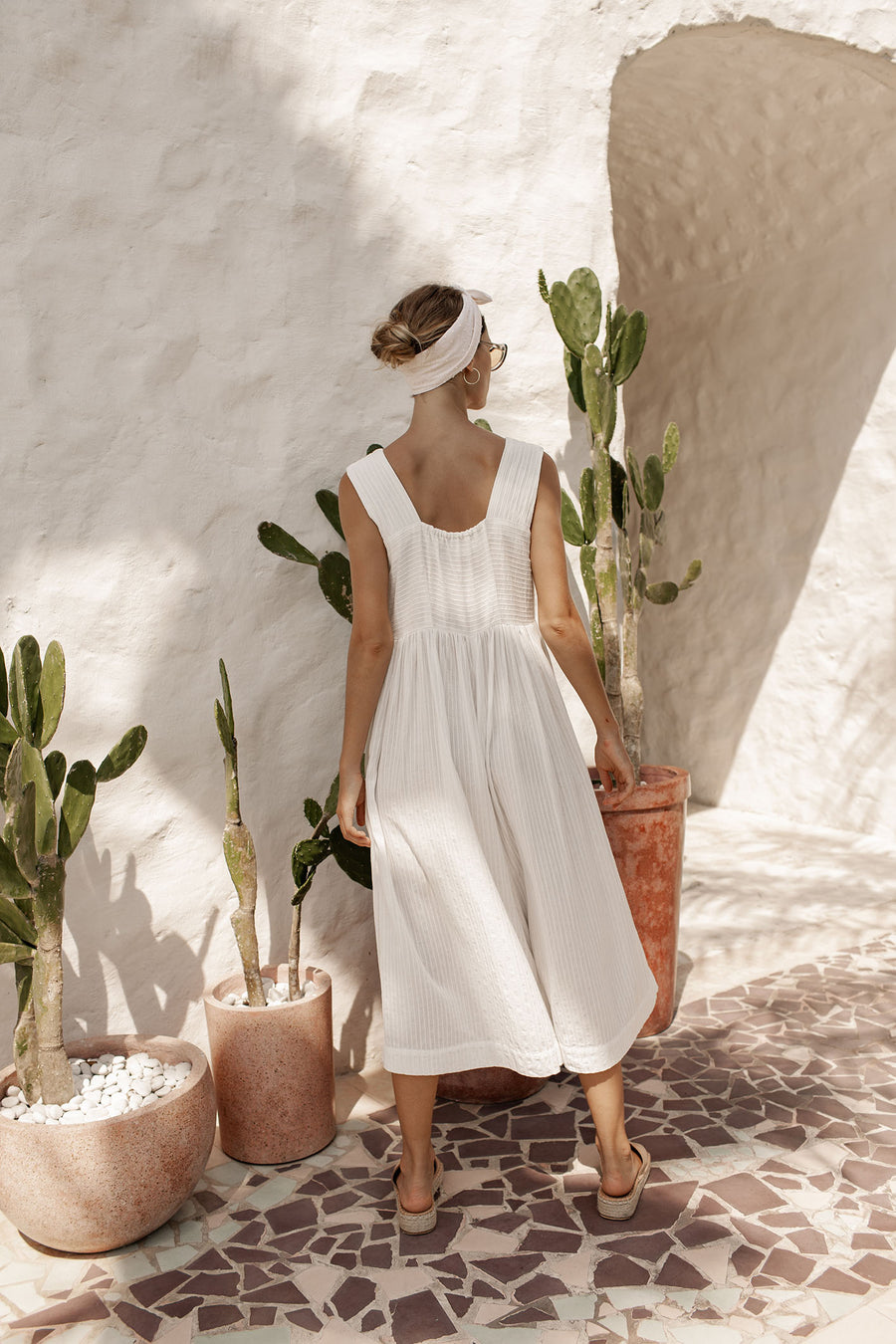 Nina Jumpsuit - Coconut White