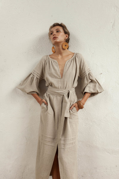 Ophelia Tunic - Natural Fawn - Linen Blend