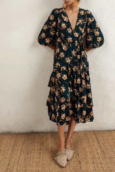 Bonita Dress - Azaleas - Natural Wood Fibre Rayon